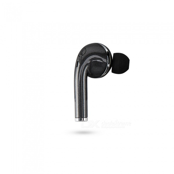 Cwxuan Bluetooth V4.0 Ear-Hook Mono Music Earphone Earpiece w/ Mic - Black