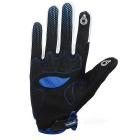 NUCKILY PD06 Touch Screen Full-Finger Gloves - White + Blue (L)
