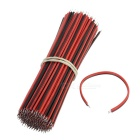 Electronic Connecting Wire / Double End Tinning Wire / Welding Wire - Red + Black (100 Pairs)