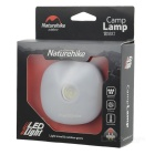 NatureHike 3-Mode 75lm 4 White LED + 4 Red LED Camping Lantern - White + Blue (3*AAA)