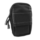 M3 600D Outdoor Water-Resistant Nylon Waist Bag - Black