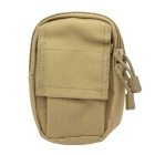 M3 600D Outdoor Multifunctional Water-Resistant Nylon Waist Bag - Mud Color