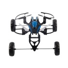 3-in-1 2.4G 4-CH 6-Axis Gyro Remote Control R/C Quadcopter Drone - Black + Blue
