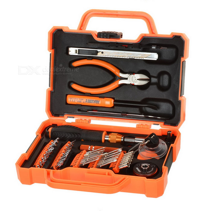 JAKEMY JM-8146 47-in-1 Multifunctional Household Maintenance Tools Kit - Orange + Black
