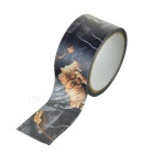 Outdoor Hunting Leaves Pattern Cotton Camouflage Camo Sticky Adhesive Tape - Green + Black