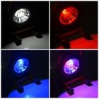 Round Portable Rechargeable Wide Engineering Light Red-Blue Light Warning Light - Yellow + Black