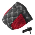 ZIQIAO Multifunctional Car Storage Bag Mobile Phone Pouch - Black + White