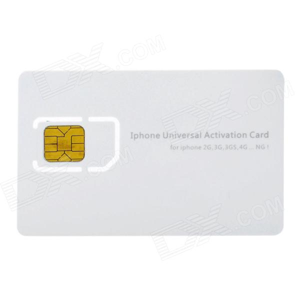 Universal Activation Sim Card for Iphone 2G/3G/3GS/4