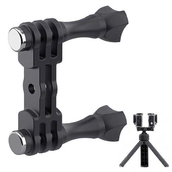 Lotopop Infinite Freedom Fast Dual Mount Adapter Tripod for GoPro HD Hero 3 / 3+ / 4 Camera - Black