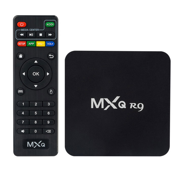 MXQ R9 quad-core 4K Android 4.4 TV scatola di 1GB di RAM, 8GB di ROM - nero
