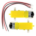 3~6V DC Large Torque Gear Motors + XH2.54-2P Cables Set for Smart Car Projects - Yellow + White