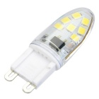 G9 Dimmable 3W 14-LED Cool White Light Bulb - White + Yellow
