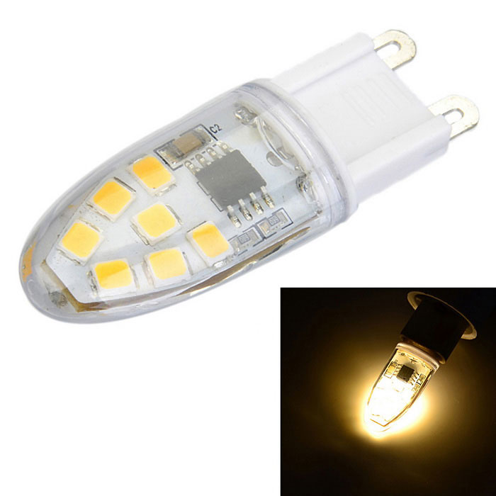 G9 dimmable 3W 300lm 14-SMD 2835 LED quente lâmpada branca (220 ~ 240V)