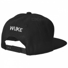 Snakeskin Pattern Hip-Hop Baseball Flat Peak Cap Hat - Black