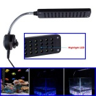 JIAWEN JWHCX-081 3W 48-LED Clip-on Fish Tank Aquarium Light Bulb Lamp - Black (100~240V / EU Plug)