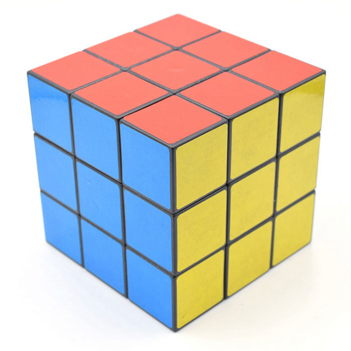 3 x 3 x 3 Puzzle Cube Magic IQ Cube  - Red + Multicolor