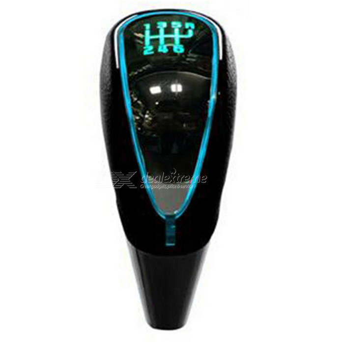CARKING Car Gear Shift Knob Touch Activated Ultra Multicolor LED Light Faux Leather Lever - Black