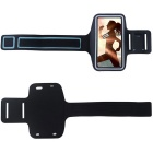 "Double Buckle Sports Armband Bag Case + Earphones for Samsung Galaxy J7 5.5"" - Black"