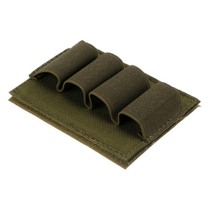 12GA Airsoft Hunting Tactical Velcro Shotgun Shell Ammo Pouch Carrier Holder - Army Green