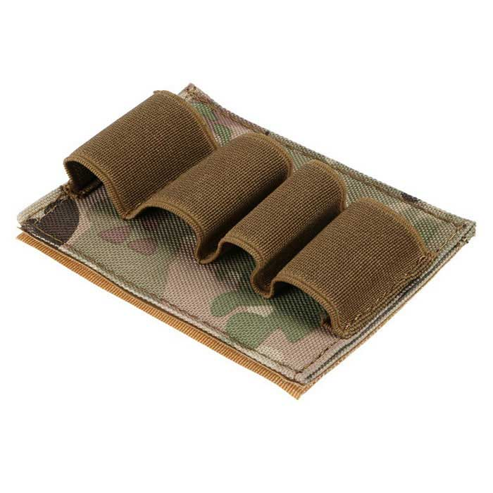 12GA Airsoft Hunting Velcro Ammo Pouch Holder - Camouflage + Tan