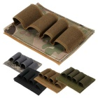 12GA Airsoft Hunting Tactical Velcro Shotgun Shell Ammo Pouch Carrier Holder - Black