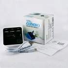 USB 2.0 Multi-function Card Reader for SD TF MS M2 Card - White + Black