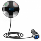 "1"" MP3 Player & FM Transmitter & USB Charger Bluetooth Car Kit w/ Hands-Free Calls / TF Slot - Black"