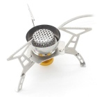 Sunfield Outdoor Windproof Camping Stove - Silvery Grey