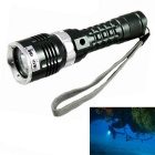 KINFIRE 4-Mode L2 White Light Diving Flashlight w/ 110m Diving Depth - Grey + Silvery Grey (1*18650)