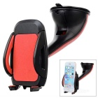 Suction Cup Car Mount Holder Stand for 5.2~10cm Cellphones - Red + Black