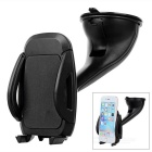 Suction Cup Car Mount Holder Stand for 5.2~10cm Cellphones - Black