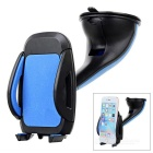 Suction Cup Car Mount Holder Stand for 5.2~10cm Cellphones - Blue + Black