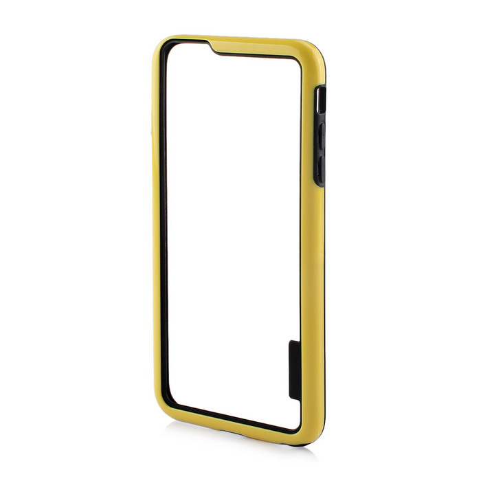 Stylish TPU Bumper Frame Case for IPHONE 6 PLUS / 6S PLUS - Black + Yellow
