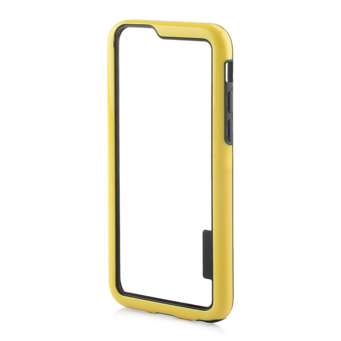 Stylish TPU Bumper Frame Case for IPHONE 6 / 6S - Black + YellowTPU Cases<br>Form  ColorBlack + YellowQuantity1 DX.PCM.Model.AttributeModel.UnitMaterialTPUCompatible ModelsIPHONE 6S,IPHONE 6DesignOthers,StylishStyleBumper CasesPacking List1 x Protective Frame Case<br>