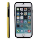 Stylish TPU Bumper Frame Case for IPHONE 6 / 6S - Black + Yellow