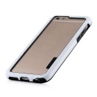 Stylish TPU Bumper Frame Case for IPHONE 6 / 6S - Black + White