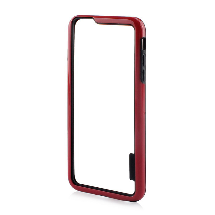 Stylish TPU Bumper Frame Case for IPHONE 6 PLUS / 6S PLUS - Black + RedTPU Cases<br>Form  ColorBlack + RedQuantity1 DX.PCM.Model.AttributeModel.UnitMaterialTPUCompatible ModelsIPHONE 6S PLUS,IPHONE 6 PLUSDesignOthers,StylishStyleBumper CasesPacking List1 x Frame<br>