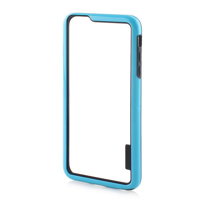 Stylish TPU Bumper Frame Case for IPHONE 6 PLUS / 6S PLUS - Black + Blue