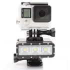 Professional Camera 30M Waterproof 3-LED Night Diving Fill Light for GoPro Hero 3/3+/4/SJ4000