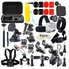 40-in-1 Monopod Head Chest Strap Accessories Set Kit for Gopro - Black
