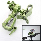 Rotating Bicycle Stand Mount Holder for Phone, Flashlight - Green