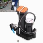 High-pressure Bicycle Pump Pedal Cycling Pump Straddling Inflator Pump - Black + White