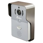 eBELL IP Wi-Fi Video Doorbell w/ Full Duplex Audio & Max. 64GB TF Card Slot - Silver Grey (US Plug)