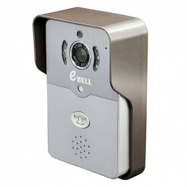 eBELL IP Wi-Fi Video Doorbell w/ Full Duplex Audio & Max. 64GB TF Card Slot - Silver Grey (EU Plug)