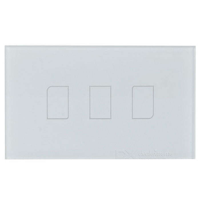 BroadLink TC2 fjärrkontroll Smart Touch Wall Switch Panel-Vit (US / AU, AC 110-150V)