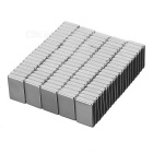 15 x 10 x 3mm Rectangular NdFeB Magnets - Silvery White (100PCS)