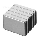 15 x 10 x 3mm rectangulaire ndfeb aimants - blanc argenté (5PCS)