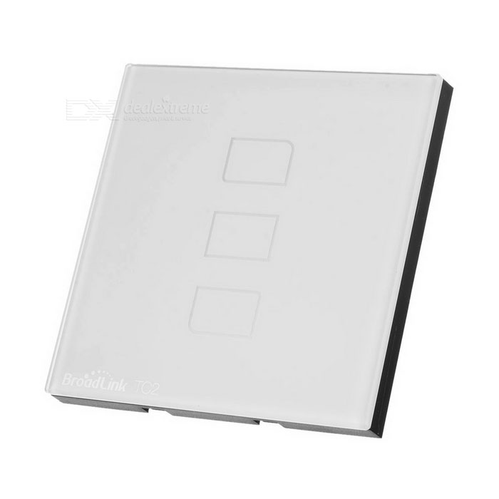 BroadLink TC2 3-Gang RF 433MHz Remote Control Smart Touch Wall Switch Panel - White (EU)