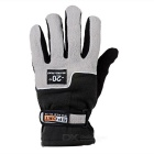 Multifunctional Outdoor Cycling Thickened Windproof Warm Fleece Gloves - Black + Light Grey (Pair)