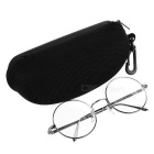 Unisex Retro Round Zinc Alloy Frame PC Lenses Plain Spectacles Glasses Eyeglasses - Silver